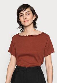 Anna Field - T-Shirt basic - dark red - 3