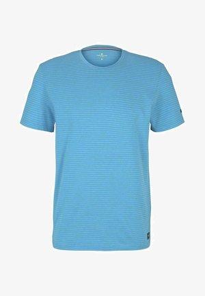 Print T-shirt - aquarius snow melange