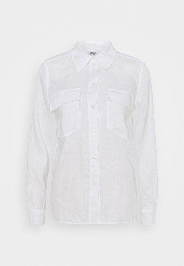 CLAUDIA - Button-down blouse - white