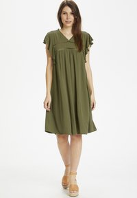 Culture - Day dress - burnt olive - 1