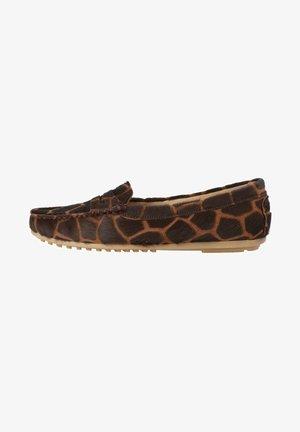 Slip-ons - giraf brown