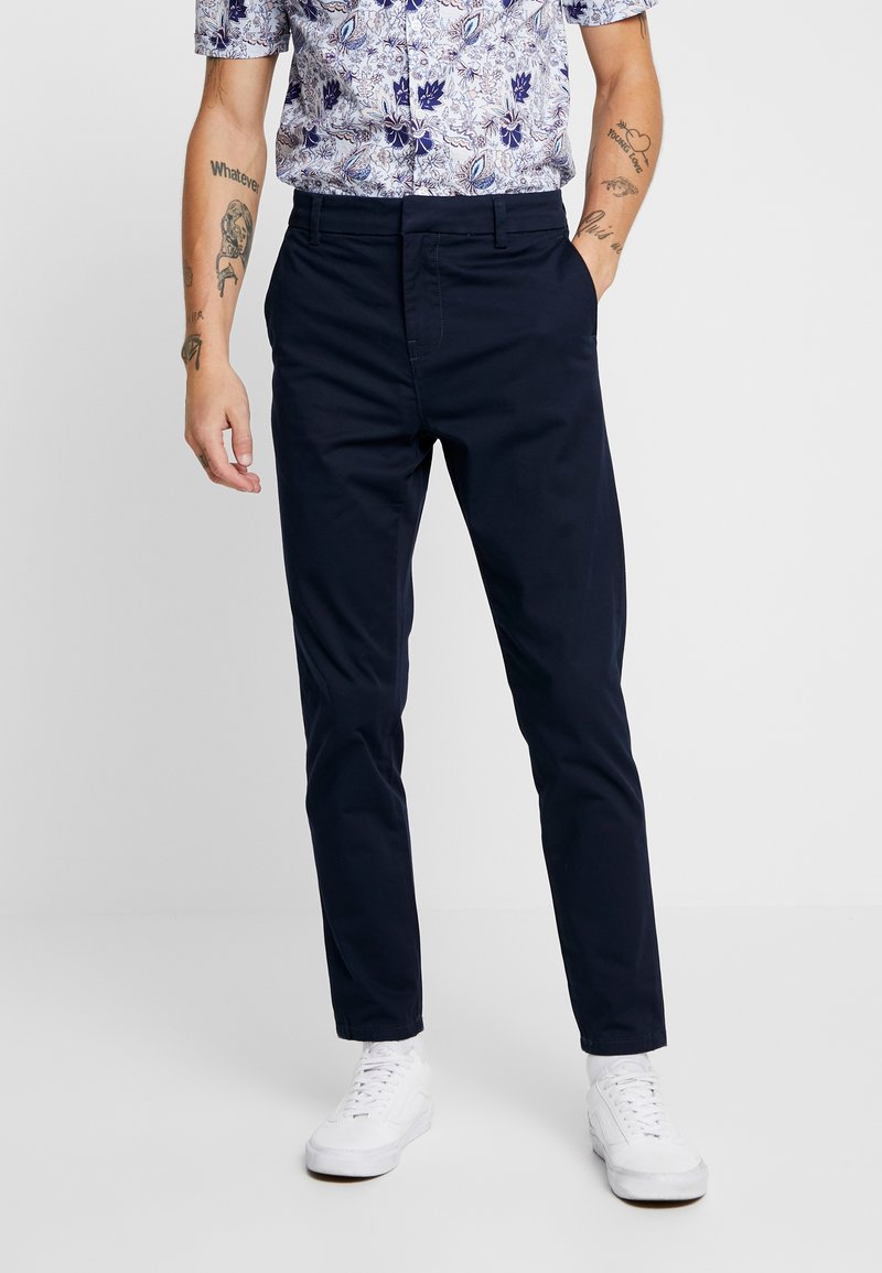 New Look - PLAIN TROUSER - Chino - navy