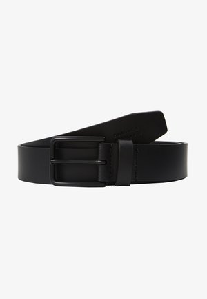 UNISEX LEATHER - Pasek - black
