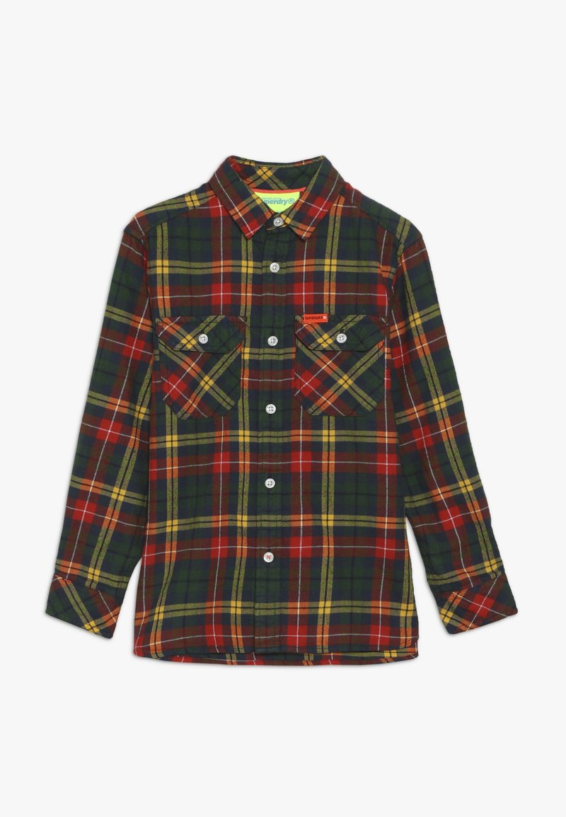 Superdry - EXPLORER CHECK  - Camisa - yellow/green
