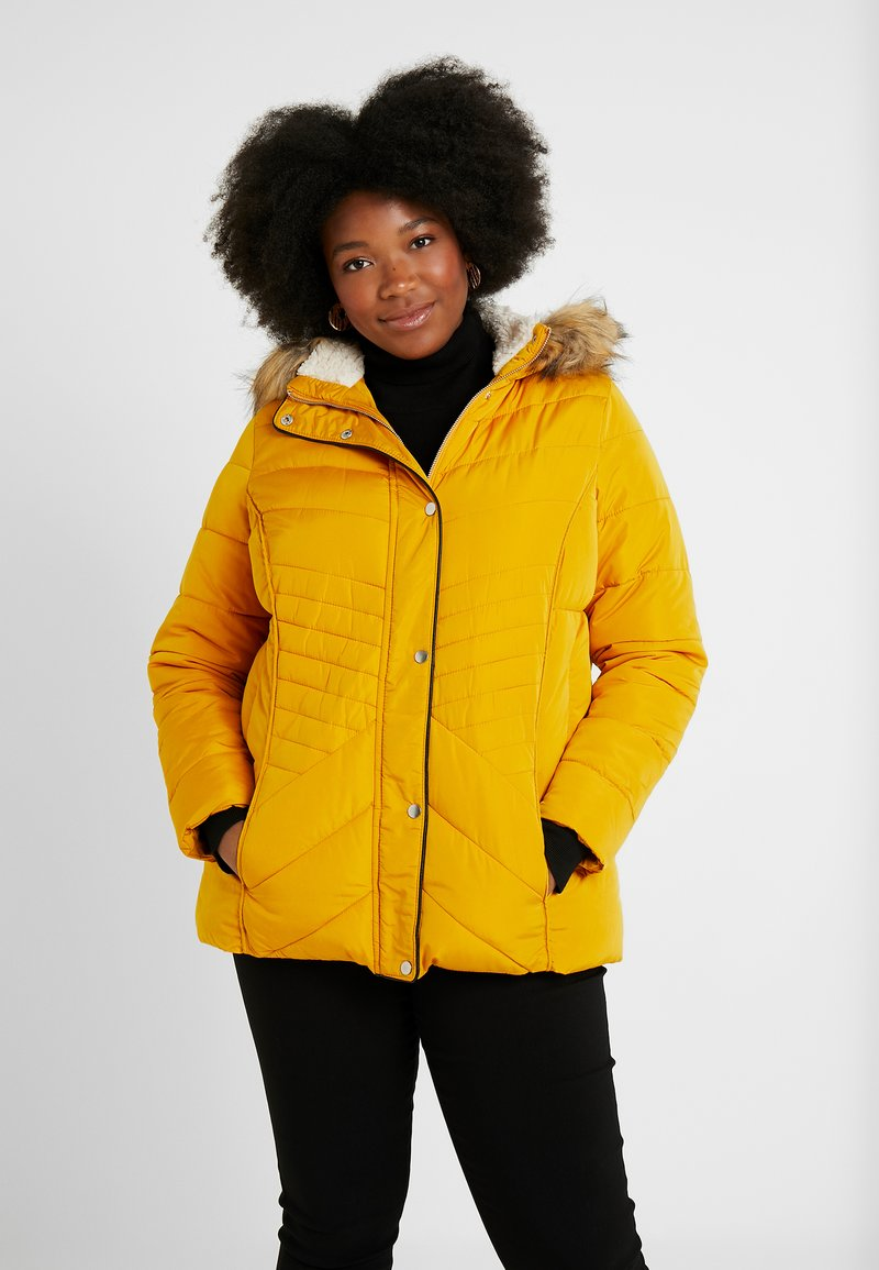New Look Curves - MAISIE FITTED PUFFER - Vinterjakker - mustard