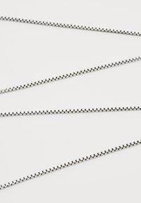 Tateossian - CLASSIC BOX CHAIN NECKLACE  - Necklace - gunmetal/silver - 3