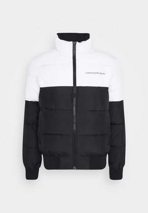 COLORBLOCK PUFFER - Veste d'hiver - bright white/black