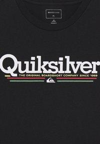 Quiksilver - SCREEN TEE - Print T-shirt - black - 2