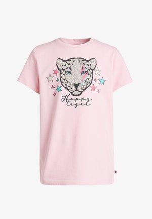 MET GLITTEROPDRUK - T-shirt print - light pink