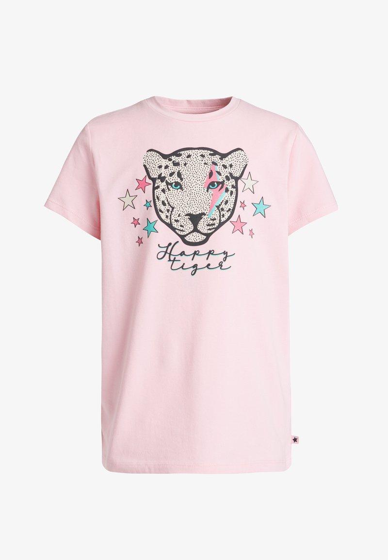 WE Fashion - MET GLITTEROPDRUK - Print T-shirt - light pink