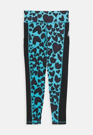 UNISEX - Legging - cyan/black
