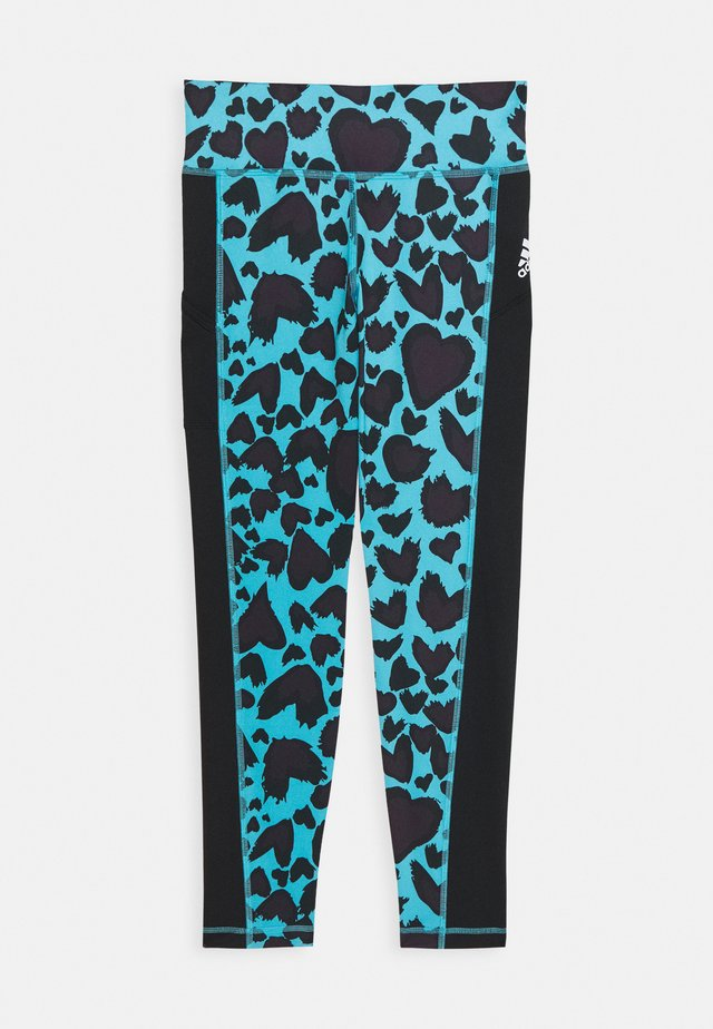 UNISEX - Collant - cyan/black
