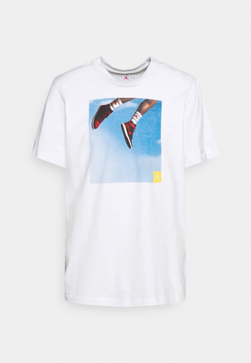 Jordan - PHOTO CREW - T-shirt imprimé - white