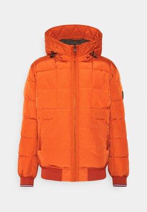 ROPE DYE HOODED BOMBER - Light jacket - orange