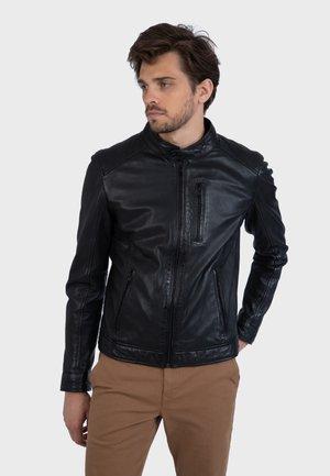 AGENT - Veste en cuir - black