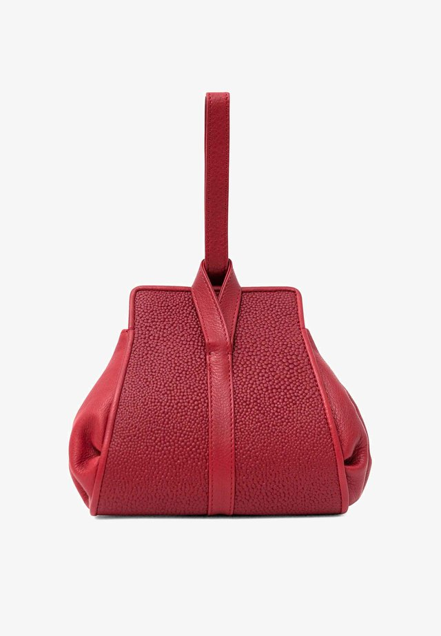 TANGO - Handbag - cranberry red circles