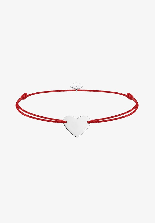 LITTLE SECRET HERZ - Bracelet - silver-coloured/red