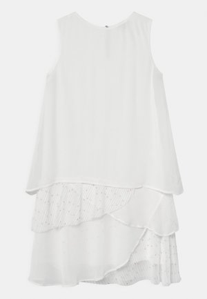 ABITO GEORGETTE POIS - Cocktail dress / Party dress - white