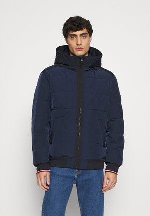 ROPE DYE HOODED BOMBER - Veste mi-saison - blue