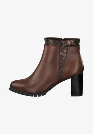 Ankle boots - chestnut/struc