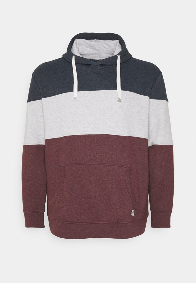 CUTLINE HOODIE WITH COLORBLOCK - Hoodie - dusty wildberry red
