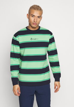 BOLD STRIPE SIGNATURE - Collegepaita - lime