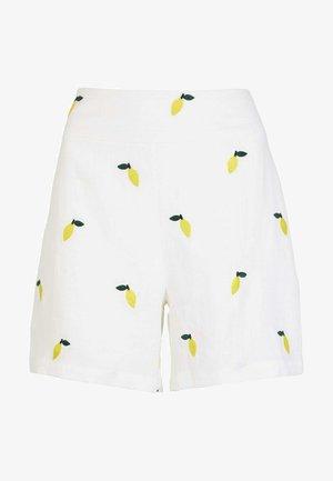 FLAMINGOS - Shorts - weiß, zitronen