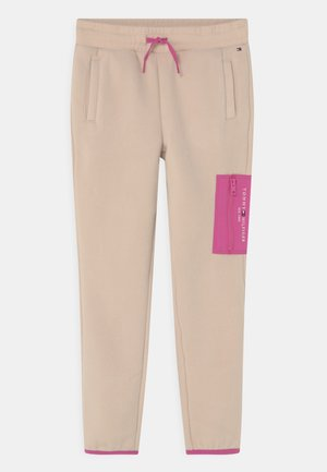 SOFT COLORBLOCK - Tracksuit bottoms - smooth stone