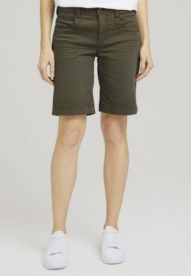 Shorts di jeans - grape leaf green