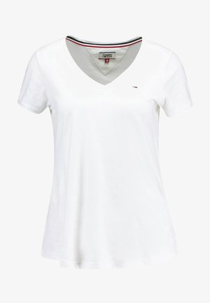 SOFT V NECK TEE - Jednoduché triko - classic white