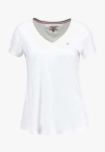 SOFT V NECK TEE - T-shirts basic - classic white