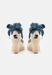 Macarena - CARLA  - Platform sandals - crudo/jeans - 3