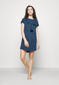 Hunkemöller - NIGHTIE CAPS NECK - Nightie - insignia blue - 1