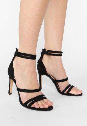 CURTAIN STRAP - High heeled sandals - black