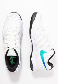Nike Performance - NIKECOURT AIR ZOOM VAPOR X - Multicourt tennis shoes - summit white/white/black/electro green - 1