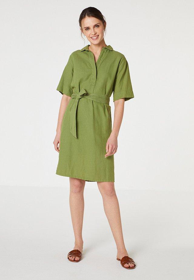 Robe chemise - kaki