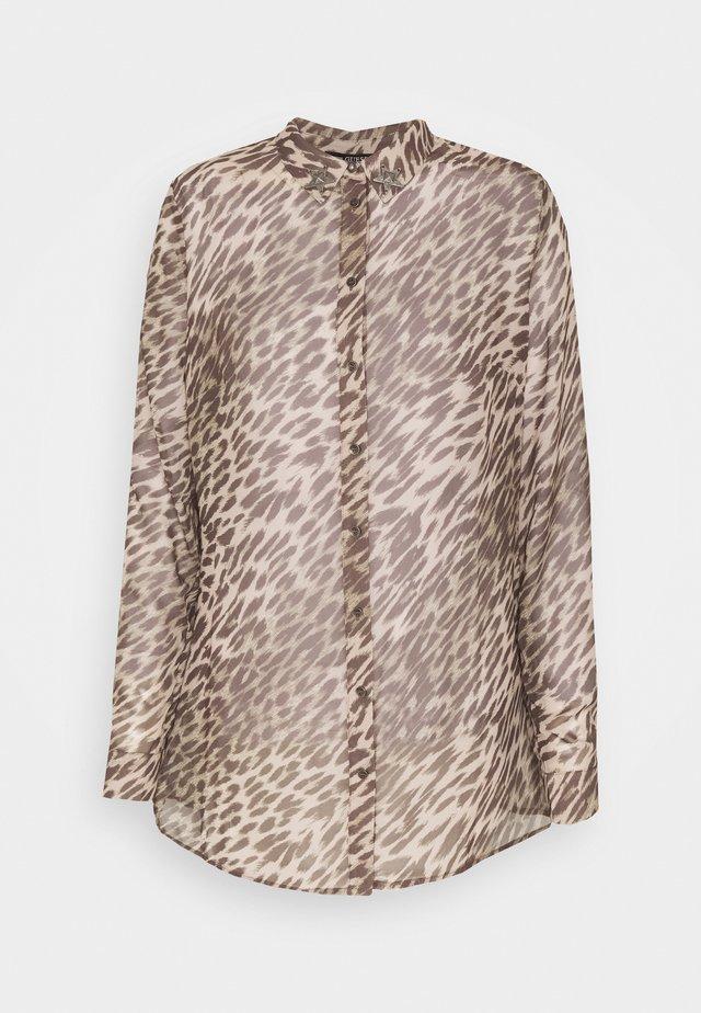 CLOUIS - Camicia - black/brown