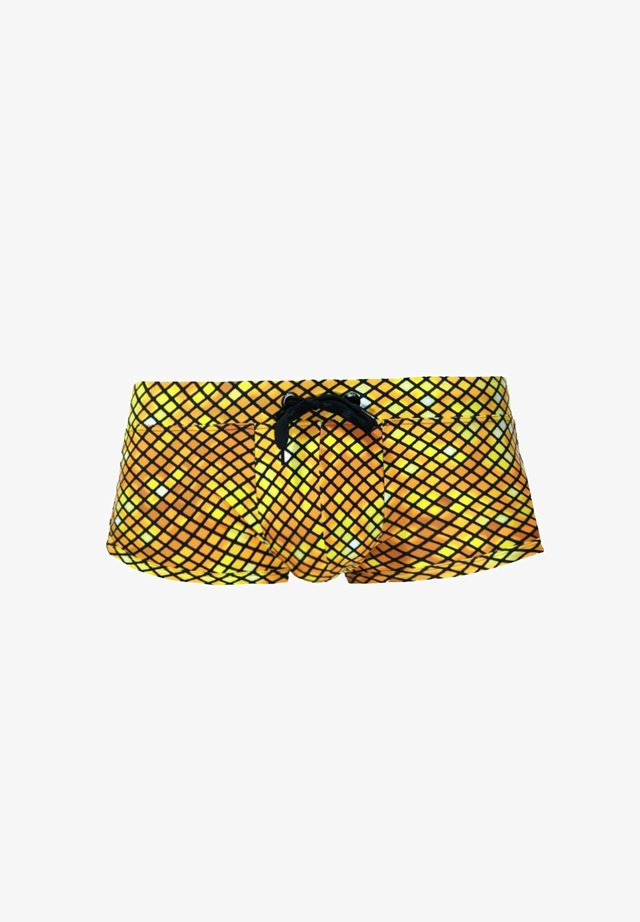 Swimming trunks - gelb/braun