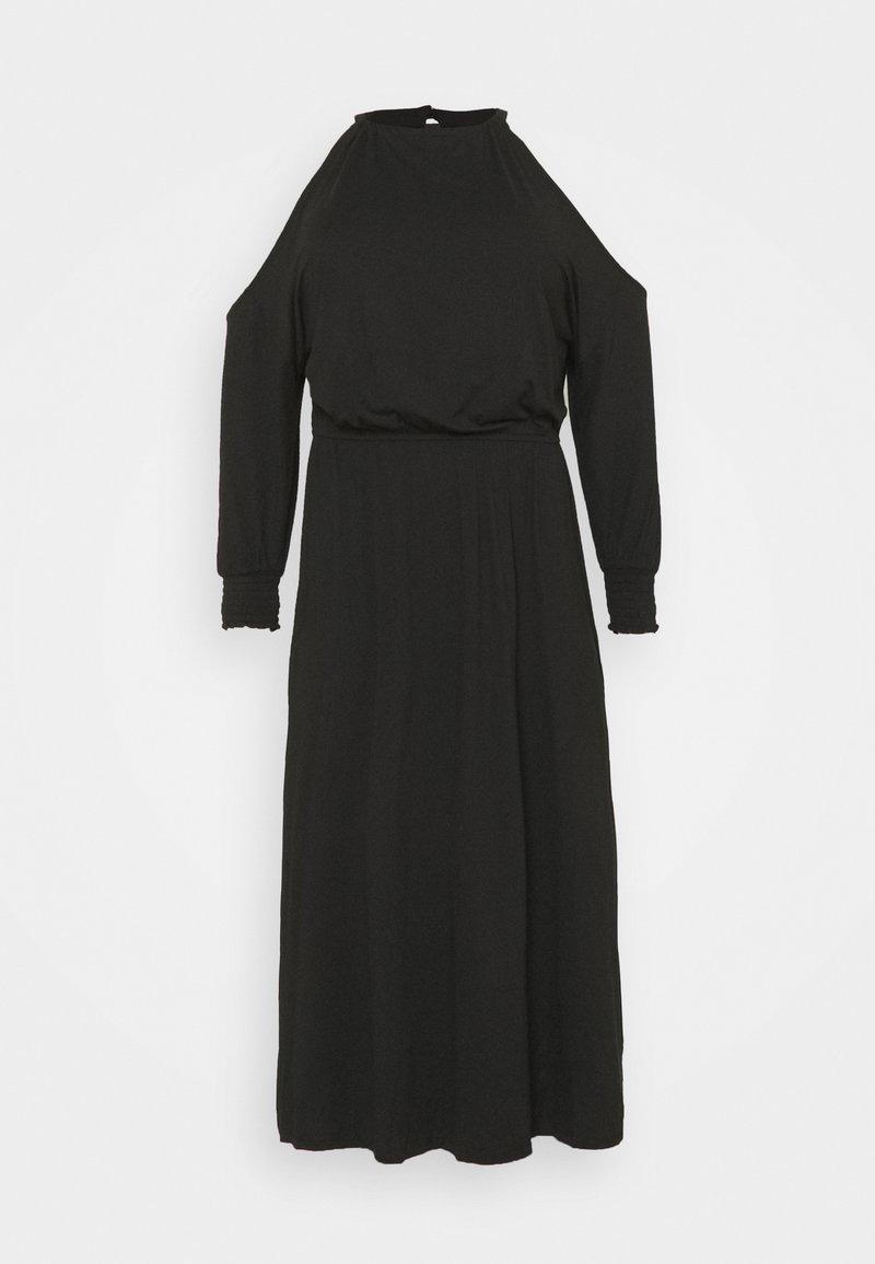 Simply Be - COLD SHOULDER SOFT TOUCH SKATER DRESS - Robe d'été - black