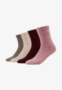 camano - CHINILLE SOCKS 4 PACK - Ponožky - bordeaux - 1