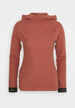 Hoodie - claystone red/metallic gold
