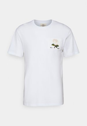 ROSE PATCH ICON - Print T-shirt - white