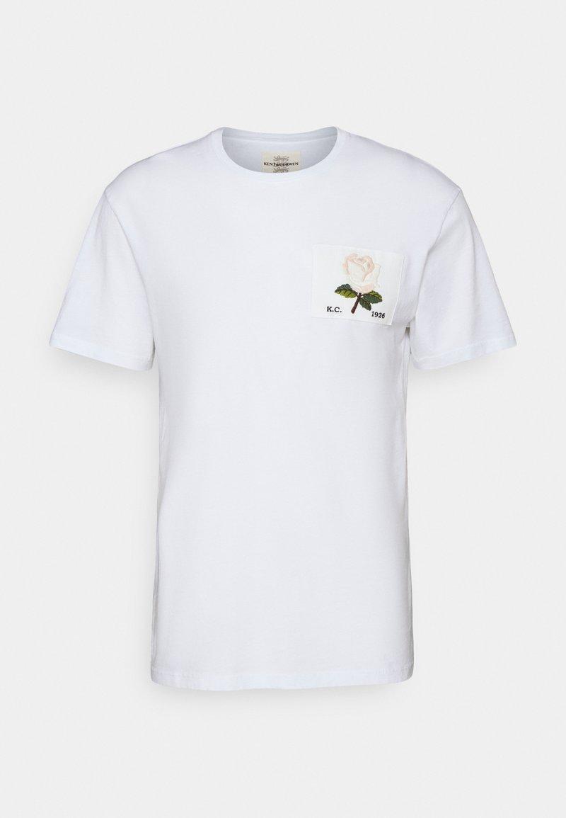 Kent & Curwen - ROSE PATCH ICON - Print T-shirt - white