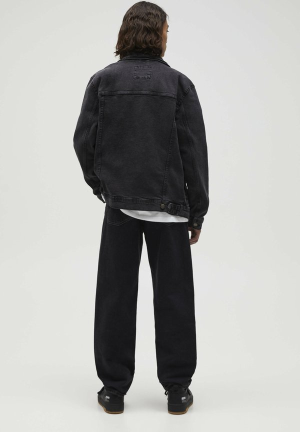 PULL&BEAR Kurtka jeansowa - mottled dark grey/szary denim Odzież Męska NNGQ