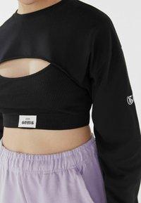 Bershka - Long sleeved top - black - 3