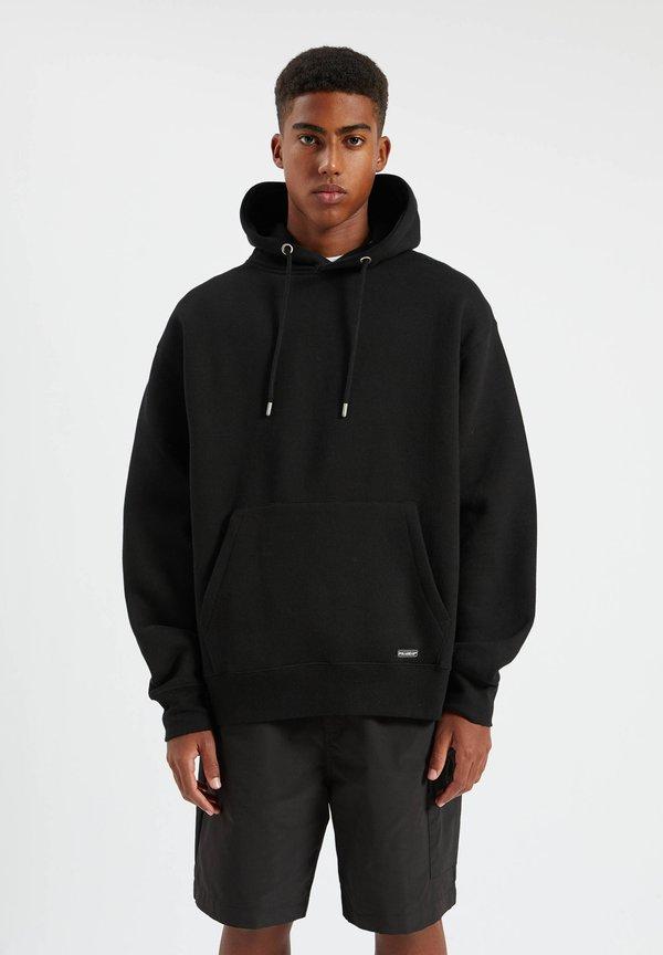 PULL&BEAR Bluza z kapturem - mottled black/czarny melanż Odzież Męska QHES