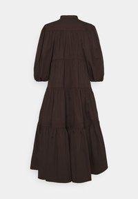 Tory Burch - ARTIST BUTTON FRONT DRESS - Shirt dress - deep chocolate - 2