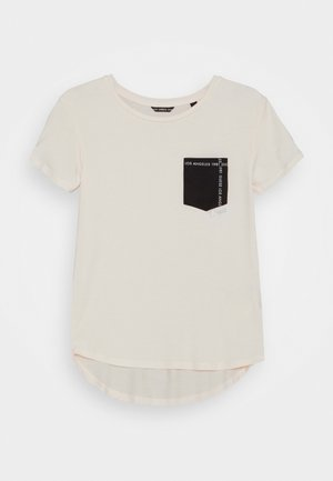 JUNIOR HIGH LOW - T-shirt con stampa - black/white