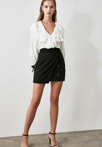 Trendyol - Wrap skirt - black - 2