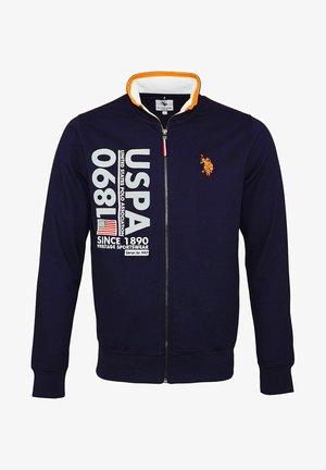 MIT REISSVERSCHLUSS - Zip-up sweatshirt - dunkelblau